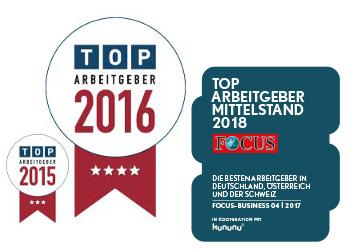 Siegel TOP Arbeitgeber 2015 2016 2018 LIST Gruppe