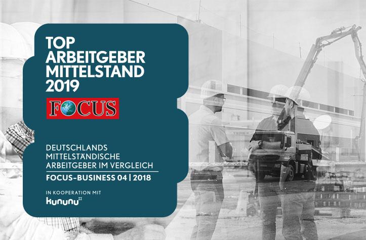 Teaserbild News TOP Arbeitgeber 2019 FOCUS